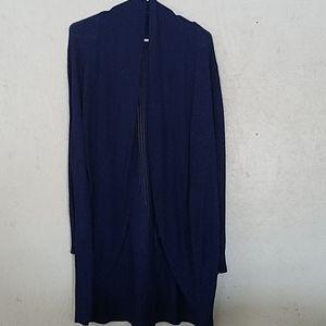 Sweater, dark blue, lightweight open